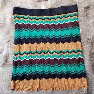 Ann Taylor LOFT multi colored knit skirt (XL) NWT
